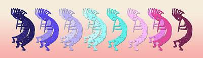 Symbol Of Fertility Digital Art - Kokopelli Taos Vibrant Colors by Robert J Sadler