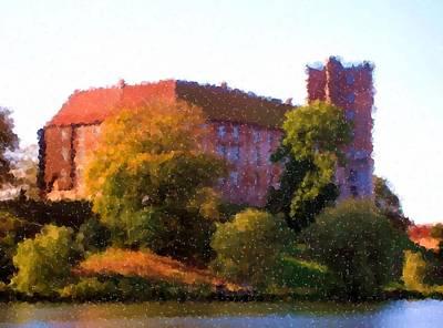 Digital Art - Koldinghus Palace Was Built In 1268 By King Erik Klipping_painting by Asbjorn Lonvig