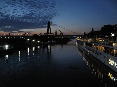 Photograph - Koln Rhine Reflections by David  Hawkins