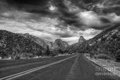 Photograph - Kolob Canyon Black And White by Eddie Yerkish