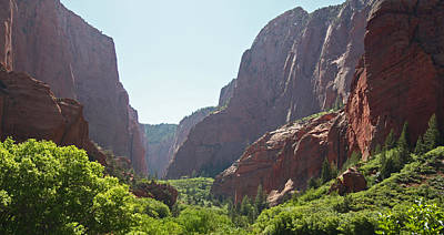 Kolob Canyons Area Of Zion National Park Art Print