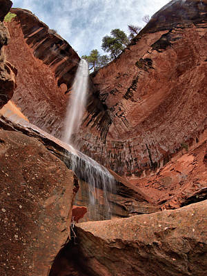 Photograph - Kolob Canyons Falling Waters by Leland D Howard