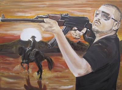Ak-47 Painting - Komander by Miguel Abrajan