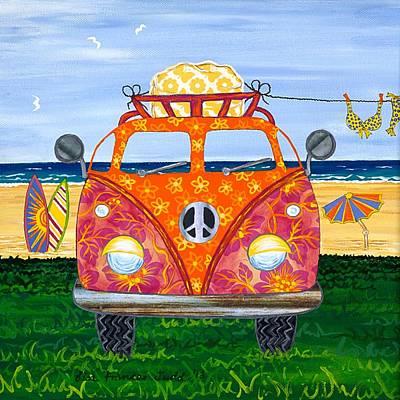 Kombie Camp No. 1 Art Print by Lisa Frances Judd