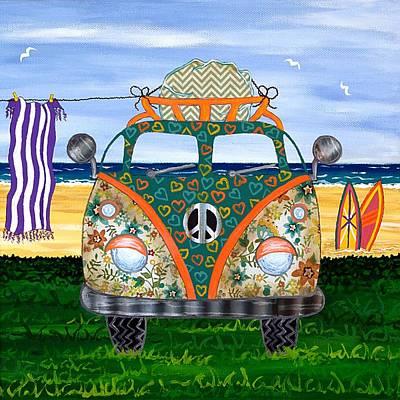 Kombie Camp No.4 Art Print by Lisa Frances Judd