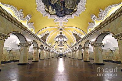 Ballroom Photograph - Komsomolskaya Station In Moscow by Lars Ruecker