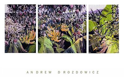 Art Print featuring the painting Kona Garden by Andrew Drozdowicz
