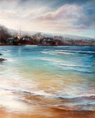 Painting - Kona Morning Tall by Mary Lovein