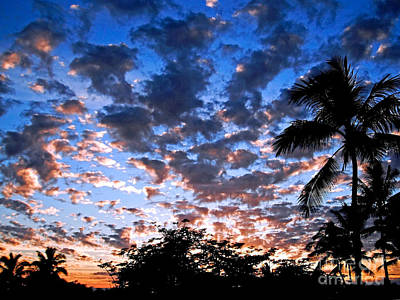 Art Print featuring the photograph Kona Sunset by David Lawson
