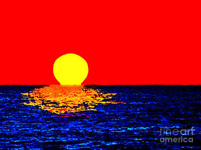 Kona Sunset Pop Art Art Print