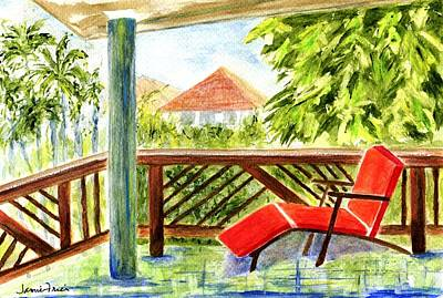 Painting - Kona View From The Deck by Jamie Frier