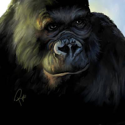 Digital Art - Kong by Maria Schaefers