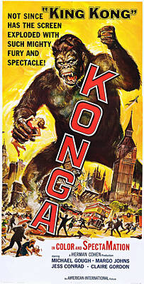 Horror Movies Photograph - Konga, Us Poster, 1961 by Everett