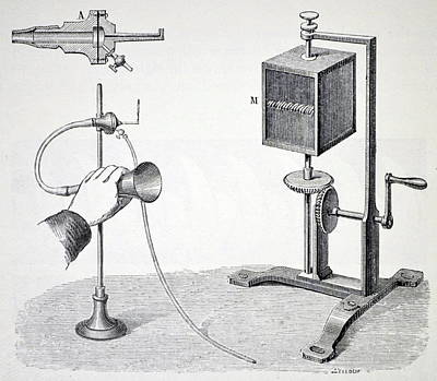 Konig's Flame Manometer Print by Universal History Archive/uig