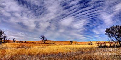 Konza Prairie Photograph - Konza Prairie Pano by Jean Hutchison
