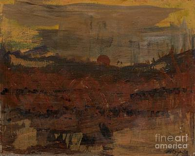 Painting - Konza Prairie Spring Burn by A K Dayton