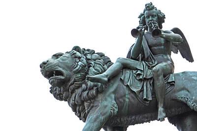 Photograph - Konzerthaus Berlin - Lion Sculpture  by Ankeeta Bansal