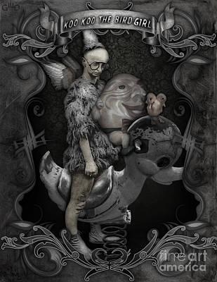 Koo Koo The Bird Girl Art Print by Gregory Dyer