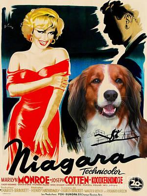 Painting - Kooikerhondje Art Canvas Print - Niagara Movie Poster by Sandra Sij