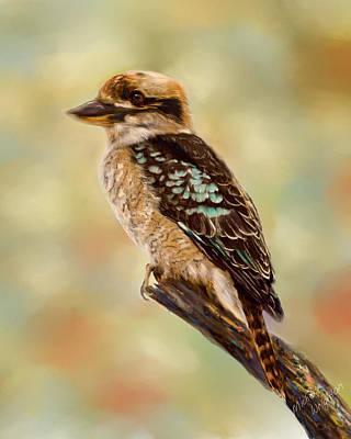 Australia Digital Art - Kookaburra - Australian Bird Painting by Michelle Wrighton