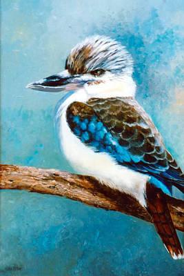 Australian Native Painting - Kookaburra Oil Painting by Jan Matson
