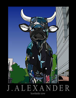 Koolaide Cow Original by Jeff Alexander