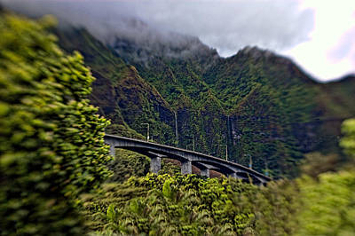 Photograph - Ko'olau Waterfalls On H-3 by Dan McManus