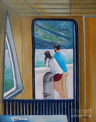 Painting - Kootenay Lake Ferry by Reb Frost