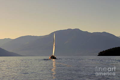 Photograph - Kootenay Lake Sailing by Leone Lund