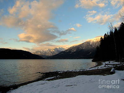 Photograph - Kootenay Lake Sunset by Leone Lund