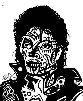 Kop 3 Michael Jackson Print by Kamoni Khem