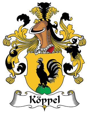 Koppel Coat Of Arms German Art Print by Heraldry