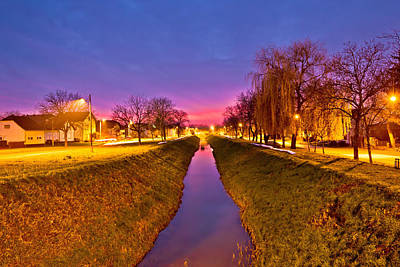 Photograph - Koprivnica Creek On Colorful Dusk by Brch Photography
