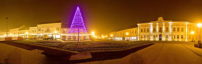 Photograph - Koprivnica Town Center Christmas Panorama by Brch Photography
