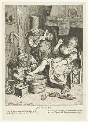 Charlatan Drawing - Kopster, Cornelis Dusart by Cornelis Dusart