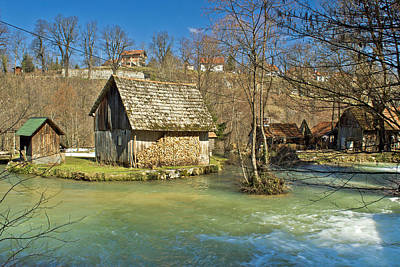 Photograph - Korana River Old Wooden Cottage by Brch Photography
