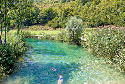 Photograph - Korana River Turquoise Bathing Area by Brch Photography