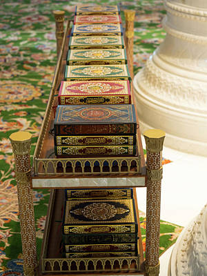 Korans On Shelf In Sheikh Zayed Bin Art Print by Panoramic Images