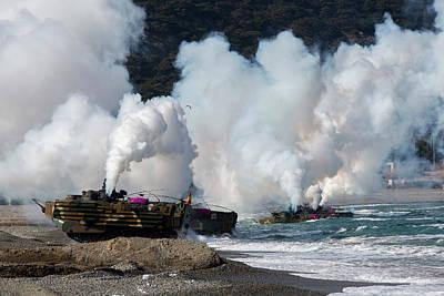 Korean Amphibious Assault Vehicles Land Art Print