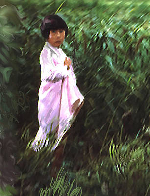 Painter Digital Art - Korean Child by Dale Stillman