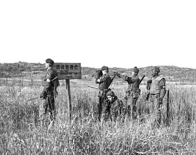 U.s Army Photograph - Korean Demarcation Line by Underwood Archives
