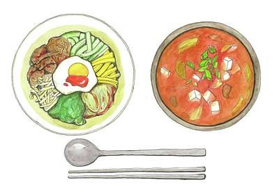 Food Digital Art - Korean Food by Kana hata