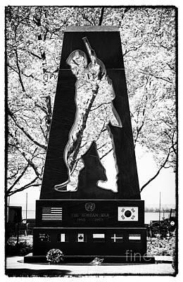 Korean War Memorial Photograph - Korean War Memorial 1990s by John Rizzuto