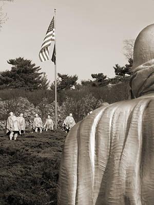 War Memorial Photograph - Korean War Memorial  2 - Washington D.c. by Mike McGlothlen