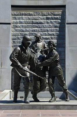 Korean War Memorial Atlantic City Nj Art Print by Bill Cannon
