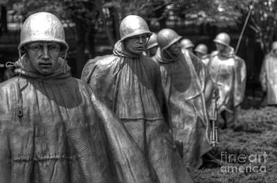 Photograph - Korean War Memorial by Jonathan Harper
