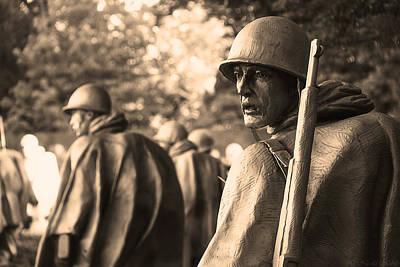 Korean War Soldier Art Print by Nicola Nobile