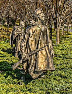 Photograph - Korean War Statutes by Nick Zelinsky