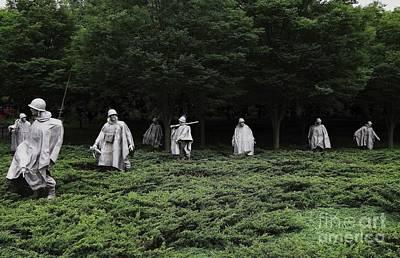 Photograph - Korean War Vererans Memorial by Allen Beatty