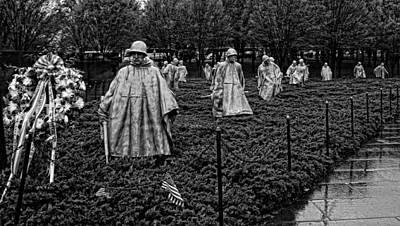 Photograph - Korean War Veterans Memorial 2 by Judy Vincent
